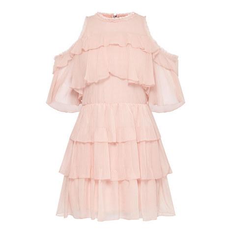 Nichola Cold-Shoulder Ruffle Dress, ${color}
