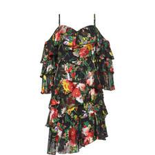 Florentina Cold-Shoulder Ruffle Dress