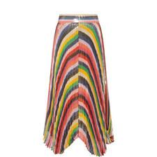 Katz Sunburst Pleat Midi Skirt