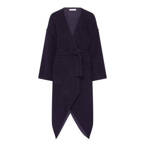 Pointed Hem Wrap Coat, ${color}