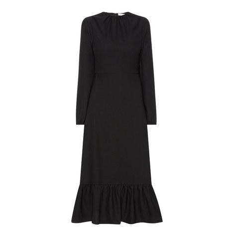 Frilled Hem Midi Dress, ${color}