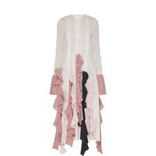 Pintuck Ruffle Dress