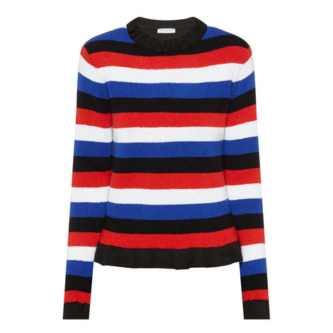 Stripe Boucle Knit Sweater, ${color}