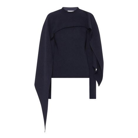 Contrast Cape Sweater, ${color}