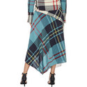 Button-Front Patchwork Skirt, ${color}