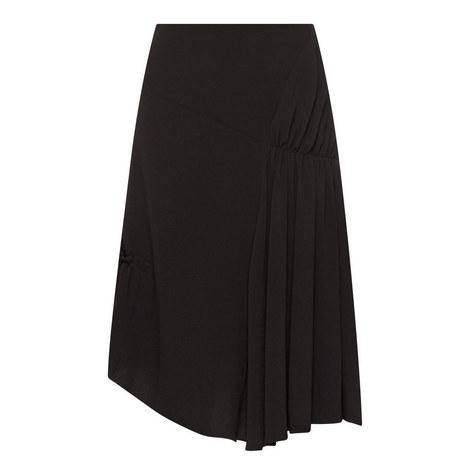 Crepe Asymmetrical Skirt, ${color}