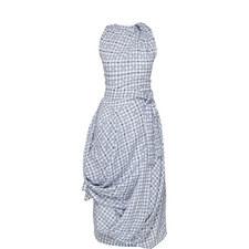 Eight Drape Check Dress