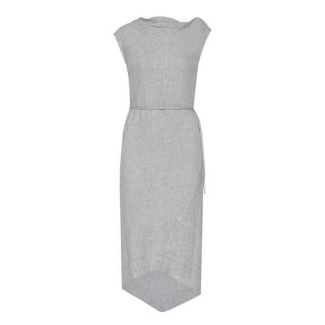 Asymmetrical Midi Dress, ${color}