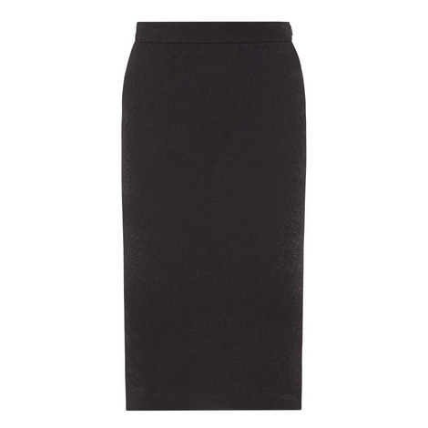 Jacquard Pencil Skirt, ${color}