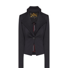 Fable Sculpted One-Button Blazer