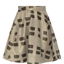 Patterned Flared Skirt