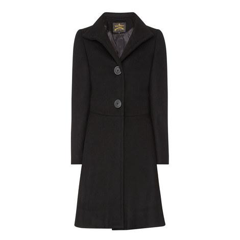 Wool Mix Princess Coat, ${color}