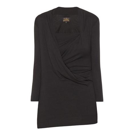 Three-Quarter Sleeve Wrap Top, ${color}