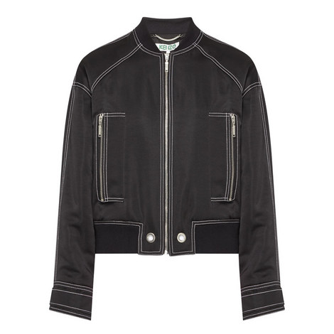 Tipped Bomber Jacket, ${color}