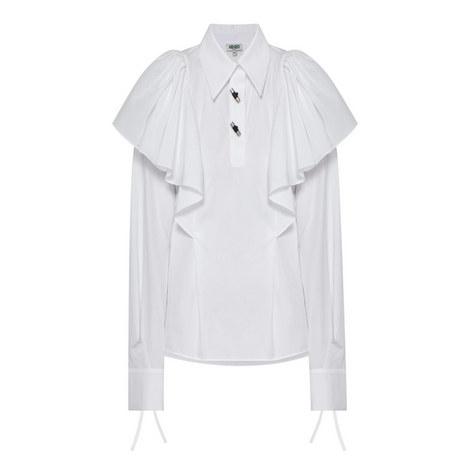 Ruffle Shoulder Shirt, ${color}