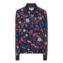 Silk Floral Bomber Jacket, ${color}
