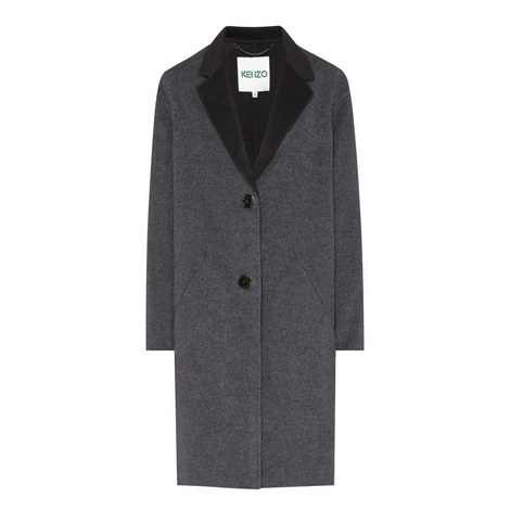Longline Single Breasted Coat, ${color}