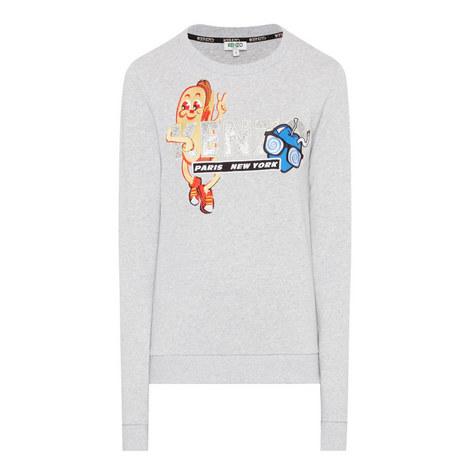 Logo Appliqué Sweatshirt, ${color}