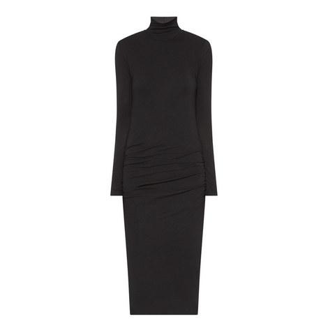 Polo Neck Midi Dress, ${color}