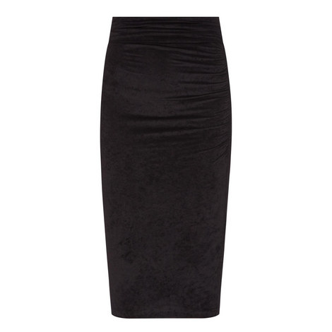 Velvet Pencil Skirt, ${color}