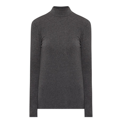Brushed Polo Neck Top, ${color}