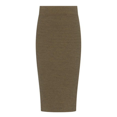 Ribbed Jersey Skirt, ${color}