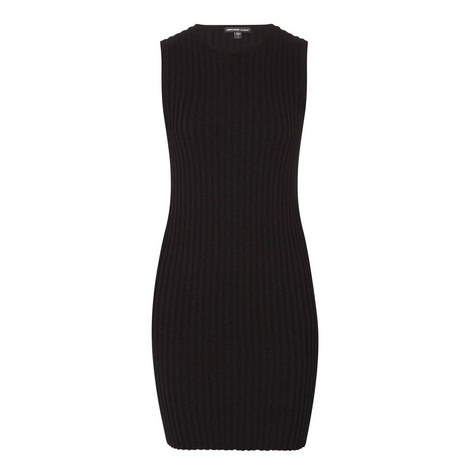 Ribbed Shell Dress, ${color}