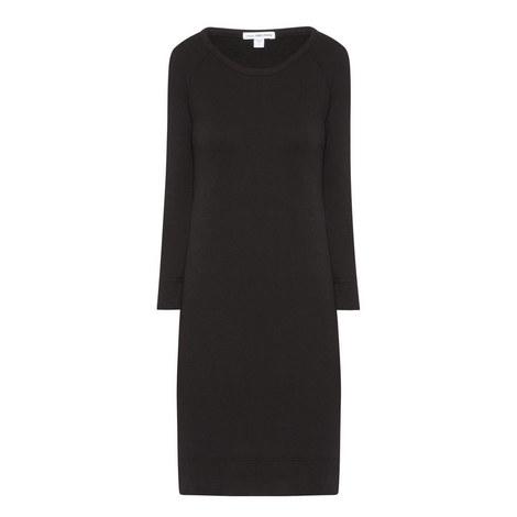 Raglan Sleeve Sweatshirt Dress, ${color}