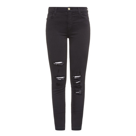 Alana Distressed Cropped Jeans, ${color}