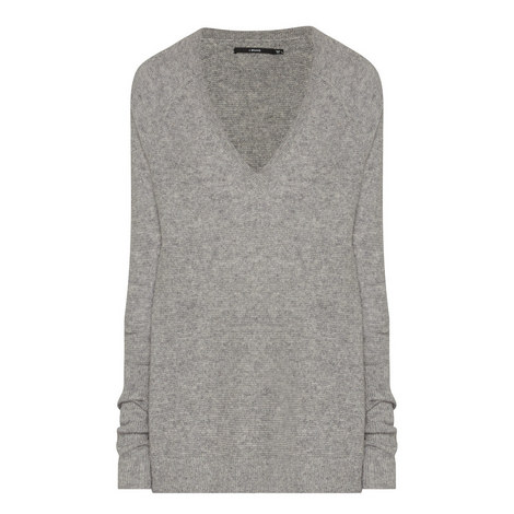 Bache V-Neck Knitted Sweater, ${color}