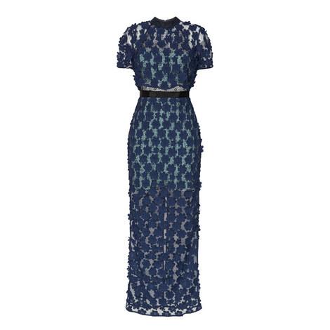 High Neck Lace Maxi Dress, ${color}