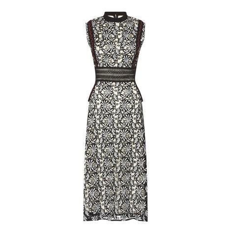 Sheer Panel Midi Dress, ${color}