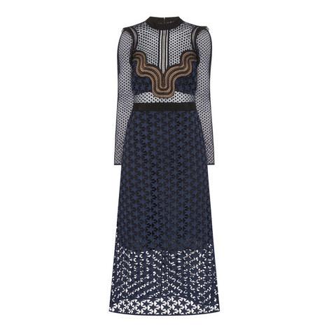 Sheer Star Midi Dress, ${color}