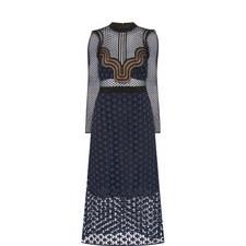 Sheer Star Midi Dress
