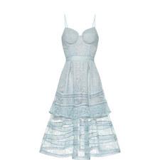 Paisley Lace Midi Dress