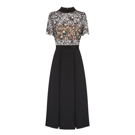 Lace Top Midi Dress, ${color}