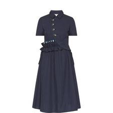 Open Back Shirt Dress