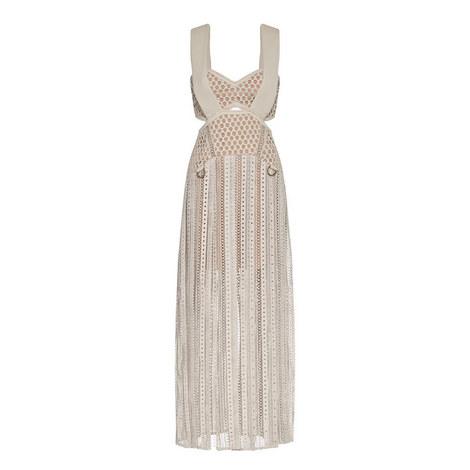 D-Ring Cutwork Midi Dress, ${color}