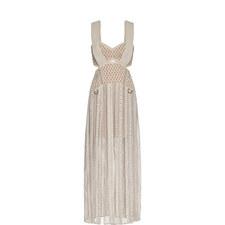 D-Ring Cutwork Midi Dress