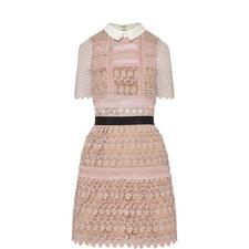 Floral Vine Cape Mini Dress