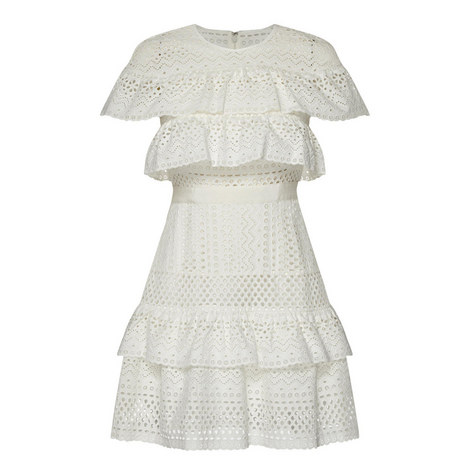 Floral Broderie Mini Dress, ${color}