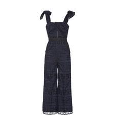 Wrap Detail Lace Jumpsuit
