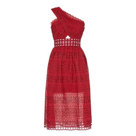 Single Shoulder Wrap Dress, ${color}