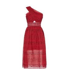 Single Shoulder Wrap Dress