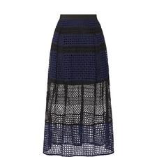 Crosshatch Panelled Skirt
