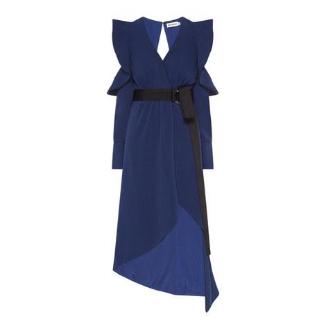 Asymmetrical Wrap Dress, ${color}