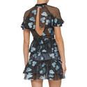 Fil Coupé Cape Mini Dress, ${color}