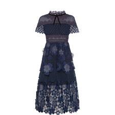3D Floral Mesh Dress