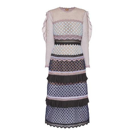Bellis Lace Trim Midi Dress, ${color}