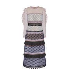 Bellis Lace Trim Midi Dress